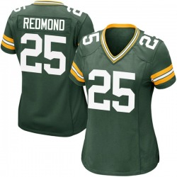 Will Redmond Green Bay Packers Women's Game Team Color Nike Jersey - Green