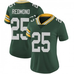 Will Redmond Green Bay Packers Women's Limited Team Color Vapor Untouchable Nike Jersey - Green
