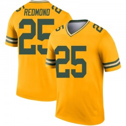 Will Redmond Green Bay Packers Youth Legend Inverted Nike Jersey - Gold