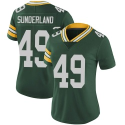 Will Sunderland Green Bay Packers Women's Limited Team Color Vapor Untouchable Nike Jersey - Green
