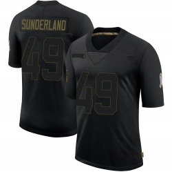 Will Sunderland Green Bay Packers Youth Limited 2020 Salute To Service Nike Jersey - Black