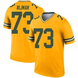 Yosh Nijman Green Bay Packers Men's Legend Inverted Nike Jersey - Gold