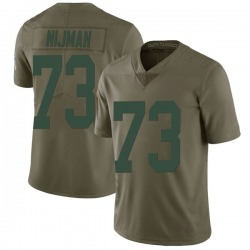 Yosh Nijman Green Bay Packers Men's Limited Salute to Service Nike Jersey - Green