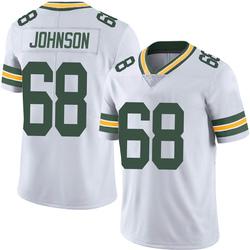 Zack Johnson Green Bay Packers Men's Limited Vapor Untouchable Nike Jersey - White