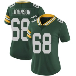 Zack Johnson Green Bay Packers Women's Limited Team Color Vapor Untouchable Nike Jersey - Green