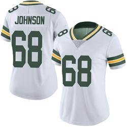 Zack Johnson Green Bay Packers Women's Limited Vapor Untouchable Nike Jersey - White